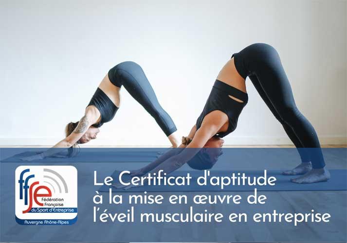 Le Certificat d'aptitude à la mise en œuvre de l'éveil musculaire en entreprise