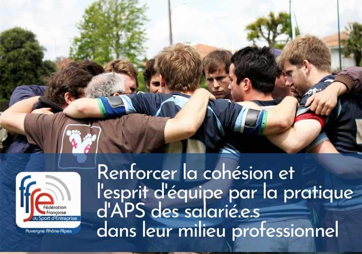 Renforcer la cohésion et l'esprit d'équipe par la pratique d'APS des salarié.e.s dans leur milieu professionnel
